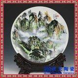 定做單位週年紀念品瓷盤,高檔商務禮品陶瓷盤