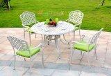 欧式 户外家具 花园庭院铁艺五件套组合 室外咖啡厅铸铝桌椅 直销