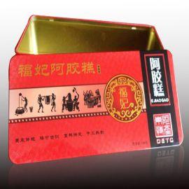 润丰制罐阿胶礼品铁盒包装铁盒定盒子铁罐包装马口铁制罐山东铁盒包装厂家