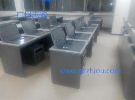 多媒体教室液晶屏隐藏式电脑桌 两用电脑桌