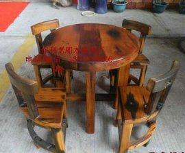 老船木课桌学生家具写字桌椅子实木现代简约学习桌
