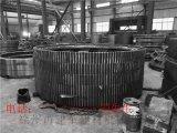 供应Φ1.6x4米转鼓造粒机大齿轮铸钢热处理滚齿加工转鼓造粒机大小齿圈配件