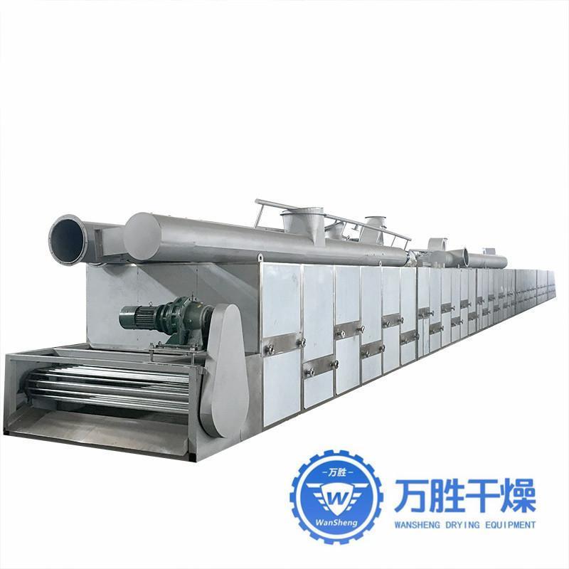 灵芝带式干燥设备干燥机脱水蔬菜干燥流水线设备 三层带式干燥机