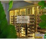 厂家直销不锈钢酒柜 家具酒店酒架彩色不锈钢展示柜加工定制