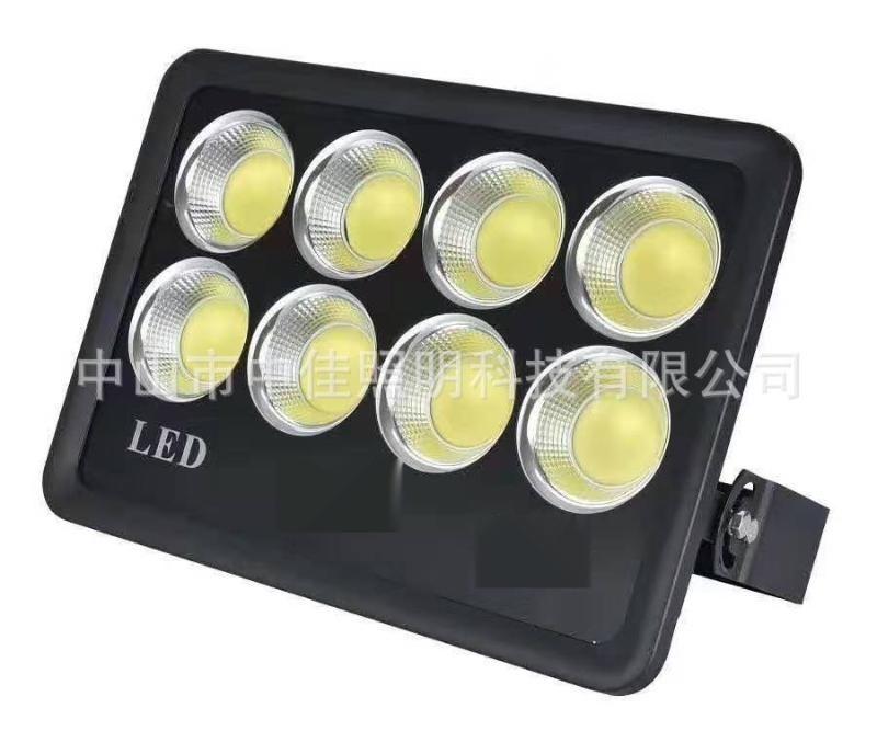 厂家直销led金钻投光灯外壳600W压铸集成投光灯 反光杯45度投光灯