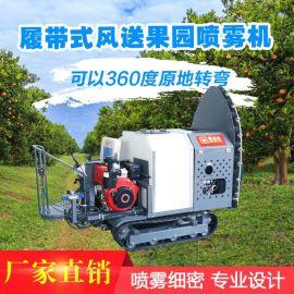厂家直销果哈哈C2履带式风送果园喷雾机果树打药机