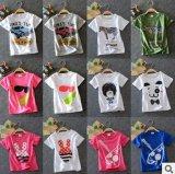 新版夏款韩版童装 男童短袖T恤儿童外贸纯棉T恤女童T恤
