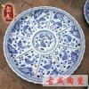青花手繪大瓷盤 陶瓷火鍋海鮮大咖盤 直徑1.2米分格年夜飯大菜盤