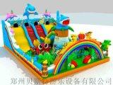 山東濟寧兒童充氣滑梯新款城堡超級厲害