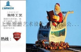 大型卡通聖誕老人擺件商場景觀美陳 開業慶典堆頭雕雕塑
