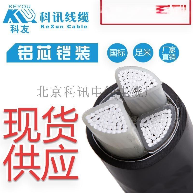 科訊線纜YJLV22-2*50鋁芯鎧裝電線鋁芯線纜