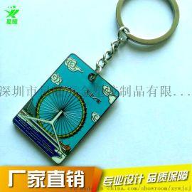 星耀金属天津之眼钥匙挂件 珐琅钥匙扣配件