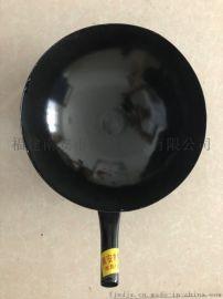 手工铸造搪瓷锅 大排档炒菜铁锅 明火铸铁锅
