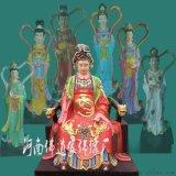 廠家直銷大型玻璃鋼雕塑神像 佘太君3米高佛像 彩繪五龍奶奶像