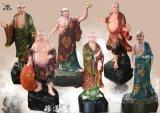 豫莲花佛像厂寺庙玻璃钢十八罗汉佛像 彩绘十八罗汉