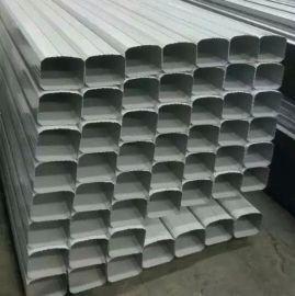 沈阳供应144*108型矩形落水管/彩钢雨水管项目实例 0.3mm--0.6mm厚 宝钢白灰落水管 宝钢深灰落水管