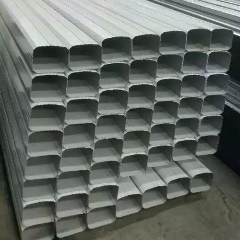 瀋陽供應144*108型矩形落水管/彩鋼雨水管項目實例 0.3mm--0.6mm厚 寶鋼白灰落水管 寶鋼深灰落水管