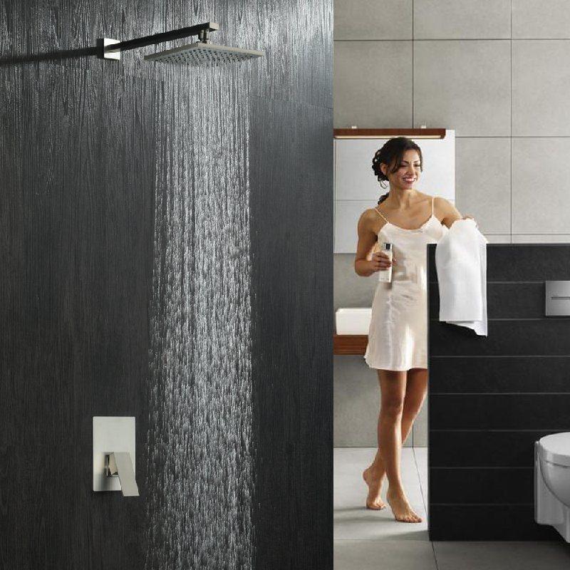 绮美斯酒店卫浴暗装304不锈钢雨淋式顶喷大喷头花洒