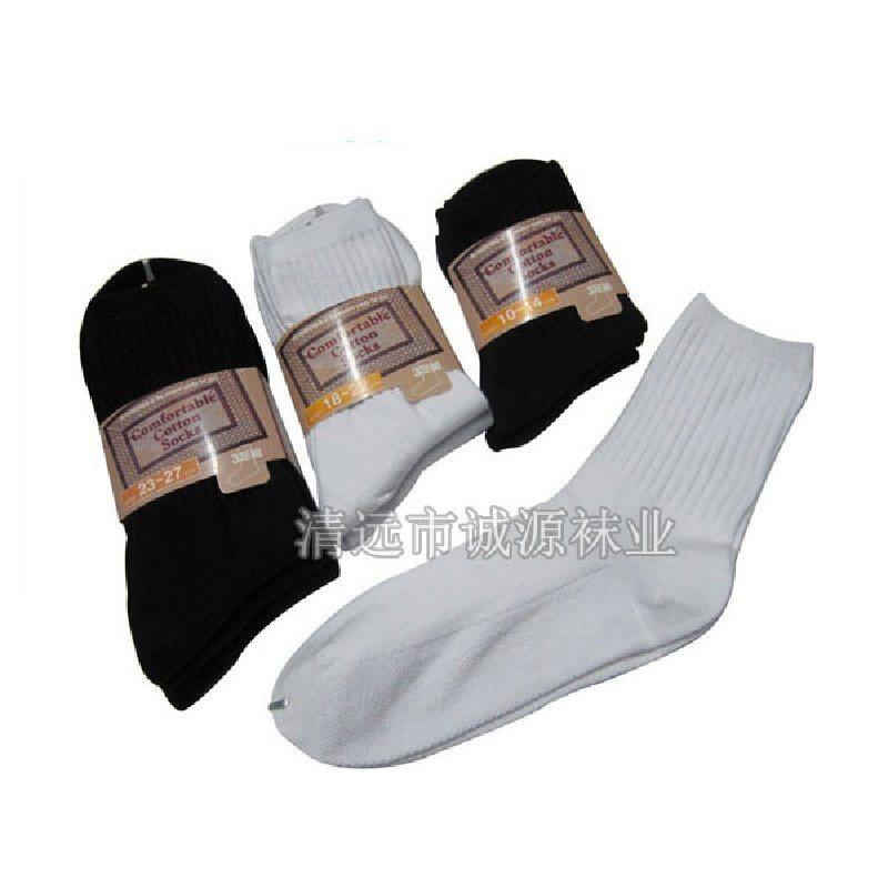 学生袜 白色学生袜 中筒学生袜贴牌订做
