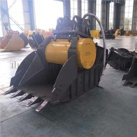 厂家直销挖掘机粉碎斗  石子破碎机