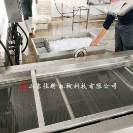 甜玉米漂烫冷却机 大型玉米蒸煮生产线