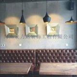 餐廳復古裝飾牆面,地坪,宏利達專注地坪