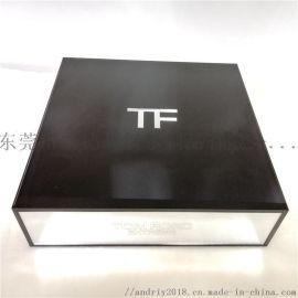 黑色镜面抽屉式化妆品包装盒