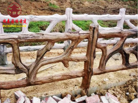 四川仿木紋欄杆廠家,河邊水泥護欄設計定制