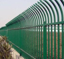 幼儿园围栏小区围墙防护栏杆锌钢护栏 喷塑铁艺护栏