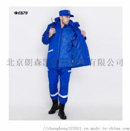 朗森凱藍色冬季救援棉服