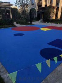 幼儿园弹性塑胶地面EPDM弹性塑胶地面施工