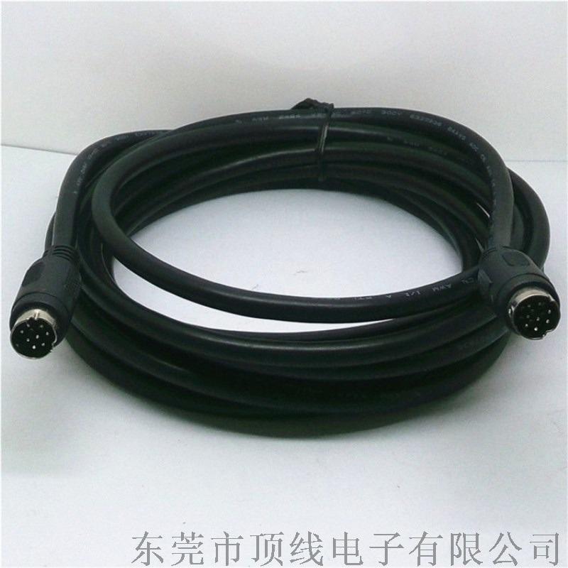 MINI DIN 8P公双头连接线 S端子线