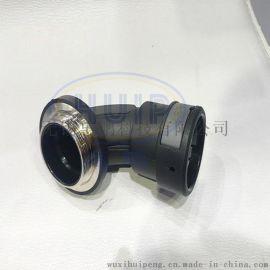 90度公制螺纹波纹管接头 一体式接头 可替代PMA