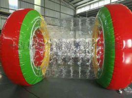 广州吉尼斯气模直销  水上步行球水上跳床尺寸可定做
