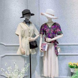 女装夏装连衣裙重庆有唯众良品女装加盟店吗库存尾货服装小西装女装韩版精品女装地摊批发厂家
