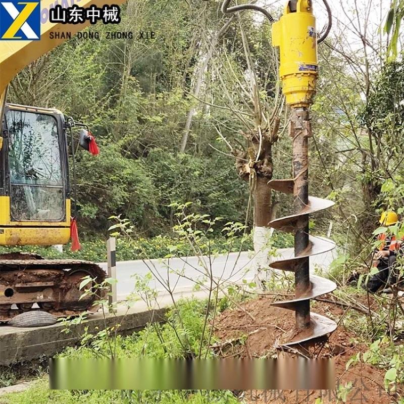 挖改钻,挖机改钻机一次成孔,挖机型号配螺旋钻杆