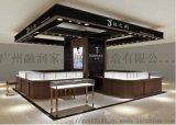 北京融润展柜厂家高档瓷砖六边形旋转珠宝玛瑙柜台展柜