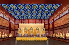 佛寺吊顶铝扣板 古庙彩绘吊顶铝扣板 白色铝天花