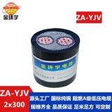 金环宇电缆 ZA-YJV 2X300平方 国标 YJV电缆 阻燃A级电力电缆