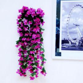 仿真红色黄色紫罗兰玫  色家居装饰新品仿真花壁挂