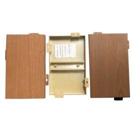 厂家定制氟碳铝单板大型商场室内粉末热转印木纹铝单板