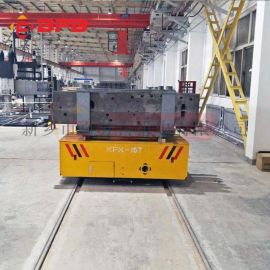转运电缆盘56吨低压电动台车 自动保护轨道平车