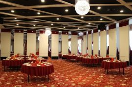 南雄餐厅折叠活动屏风隔音环保型