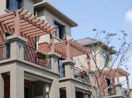 塑木长廊、塑木花架、木塑廊架、木塑花架