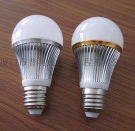 银色金边5W  LED球泡灯