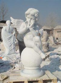 石雕西方人物雕塑欧式大小天使人物雕刻定制