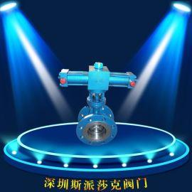电液动铸钢铸铁不锈钢法兰金属硬密封蝶阀 DY741H-10 DN150 200