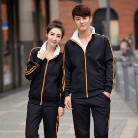 韓版時尚加絨厚情侶裝衛衣寬鬆工作服開衫秋冬立領運動服定制logo