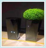不锈钢创意花盆定制供应酒店装饰花盆摆件不锈钢中式花箱加工生产