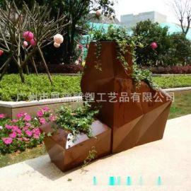 工厂定制玻璃钢花盆商场机场美陈装饰花盆组合 落地玻璃钢